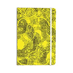 "KESS InHouse Everything Notebook,日记图案音乐""Mandala Lemon""黄色 (JS3002ANP01)"