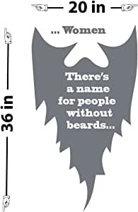 """People Without Beards 引言墙贴 灰色(Storm Grey) 36"""" (H) X 20"""" (W) 1981-WALL-02-25"""