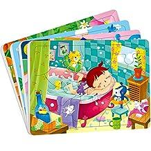 邦臣小红花·动手动脑玩拼图(3-4岁)(套装共4册)