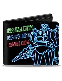 Buckle-Down Wallet Electric Grimlock Pose + Autobot Logo Black/green/blu Accessory