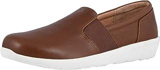 Vionic 女士 Magnolia Gianna 皮革一脚蹬平底鞋 - 女士散步鞋,隐藏式*足弓支撑