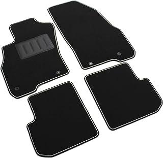 Il Tappeto 汽车 SPRINT00104 地毯汽车脚垫 黑色 防滑 双色边缘 橡胶鞋跟保护垫 适用于 Punto Evo 和 Mito