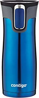 Contigo Autoseal West Loop 康迪克 不銹鋼旅行杯帶易清潔蓋 16盎司 摩納哥藍
