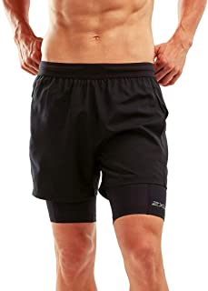 2XU 男式 Xvent 2 合 1 Comp 短裤