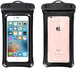 防水手机袋防水袋带浮动圈兼容袋干燥袋兼容夏季防水袋游泳沙滩干燥袋手机壳手机套 黑色