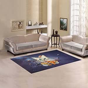 AnnHomeArt 太空猫小地毯现代地毯 198.12cm x 152.40cm