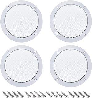 uxcell 4件套 10.16cm 音箱 烧烤架 网眼装饰 圆形 低音炮 保护罩 音频配件 白色