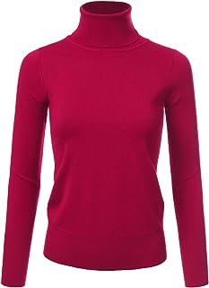 NINEXIS 女式基本款长袖柔软高领毛衣上衣