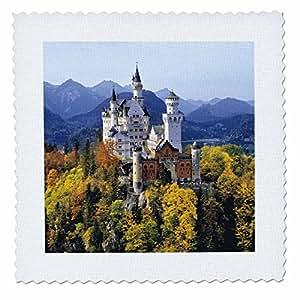 danita delimont–城堡–新天鹅城堡, bavaria ,德国–eu10rer0071–RIC ergenbright–方块拼布