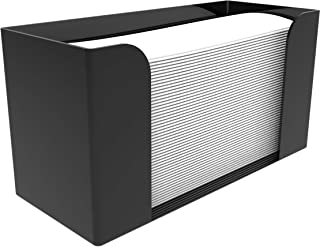 Cq 亚克力台面纸巾分配器,折叠纸巾架,黑色客人毛巾餐巾架,适用于Z型折叠,C型或多折叠纸巾,1件装