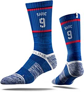 NBA 费城 76 人队达里奥 Saric Jersey 优质运动船员袜,黑色,均码