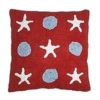 快乐装饰儿童可水洗靠垫 ( 45x 45cm ,红色 / 蓝色 / 白色,小波浪 )