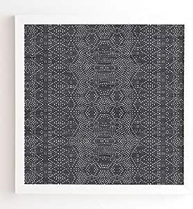 Deny Designs Holli Zollinger Marrakeshi 牛仔装裱墙壁艺术,76.20 cm x 76.20 cm,蓝色