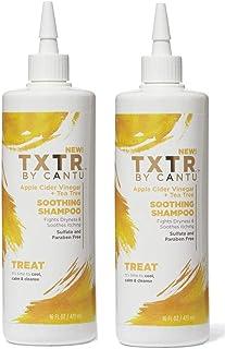 Cantu Txtr Treat 洗发水舒缓 16 盎司(473 毫升)(2 瓶装)