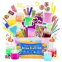 DilaBee Slime 制作套件 - {48 件} *巨型入门套件 - *测试和认证! *Slime男女宝宝用黏胶配饰和用品 Ready Slime Kit