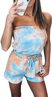 EVALESS 女式分体式泳衣泳衣花卉肩带沙滩装无下装 S-XXXL