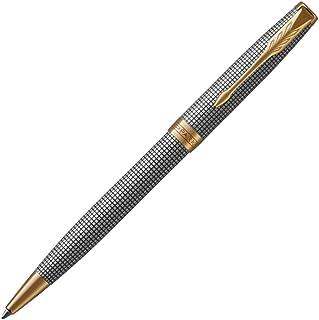 PARKER 派克 Sonnet 圆珠笔 雕琢银 金色镶边 中号笔尖 黑色墨水