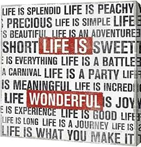 "PrintArt GW-POD-38-11353-24x24""Life Is"" Michael Mullan 画廊装裱艺术微喷油画艺术印刷品 20"" x 20"" GW-POD-38-11353-20x20"