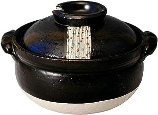 CtoC JAPAN Select 土锅 多重 5.5号 M0262 杂炊锅 黑玉芥末 万古烧 日本制造 含 个装