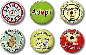 适合青少年的可爱储物磁铁 - 宠物 Rescue Dogs