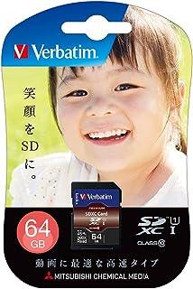 Verbatim 巴贝塔 SDXC存储卡 64GB UHS-1 U1 Class10 *大读取45MB/秒 SDXC64GJVB4