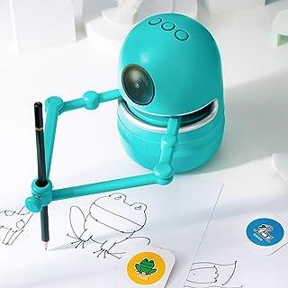 Pidoko 儿童 Quincy 机器人艺术家 - 包括数学和字母学习卡 - 绘画艺术玩具男孩和女孩