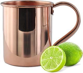 实心铜莫斯科Mule 马克杯 - 16 和 22 盎司 - * 纯铜 - 正品莫斯科泥马克杯 橙色 16 oz Classic MM02