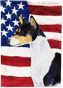 USA American Flag with Basenji Flag 多色 小号