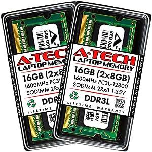 2GB DDR3 PC3-8500 笔记本电脑内存模块(204 针 DIMM,1066MHz)A-Tech 品牌正品CT102464BF160B-ATECH PC3-12800 16GB Kit (2 x 8GB)