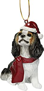 Design Toscano Charles Cavalier Holiday Dog Ornament Sculpture, Full Color