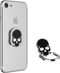 KIFAR 手机套支架 360 度自由可调节旋转通用智能手机手指环握把适用于几乎所有手机和手机壳 黑色