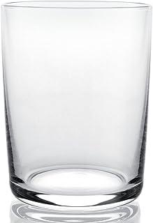A di Alessi 3-1/4 英寸玻璃家庭白色*杯,水晶玻璃(4 件装)