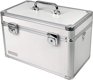 Vaultz 小号锁储物盒,带隔板 大 白色