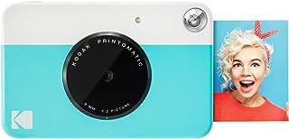 Kodak PRINTOMATIC 数码即时打印相机(浅蓝色),Zink 全彩色打印 2x3 粘性背衬相纸 - 立即打印回忆