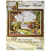 Tobin 14 Count Fall Inspiration Counted Cross Stitch Kit, 9 by 12-Inch