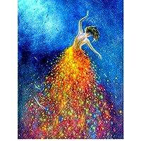 DIY 5D 儿童及成人钻石绘画套件,Betionol 绘画十字绣全钻水晶水钻绘品编号套件*二系列 舞蹈女孩