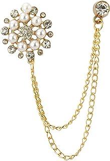 AN KINGPiiN 珍珠星星 带宝石 阳光 链子 翻领 别针 胸针 西装铆钉 衬衫铆钉 男士配饰