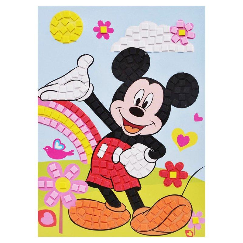 孩派eva立体粘贴画儿童手工diy手工制作亮片 方块马赛克贴画 (米老鼠)