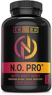 Zhou Nutrition 含L精氨酸,苹果酸瓜氨酸,AAKG和甜菜根的一氧化氮补充剂——强大的N.O. 力量,有益于血液流动,助推耐力,建造肌肉——120粒素食胶囊