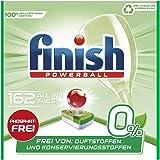Finish 0% 多效合一洗碗机用洗涤块,不含磷酸酯,抵抗顽固油脂污渍,162片大包装,6袋 (6 x 27块)