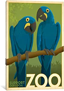 iCanvasART ADG206 VAF Zoo Parrots by Anderson Design Group Canvas Print, 26 by 18-Inch, 0.75-Inch Deep