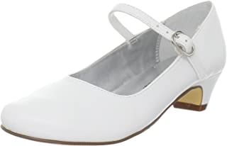 Nina Seeley Heel Buckle Mary Jane (Little Kid/Big Kid), White Smooth, 1 M US Little Kid