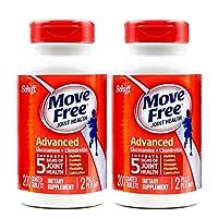 2瓶装|Schiff Move free维骨力氨糖软骨素片红瓶基础版 200粒∕瓶*2瓶 (美国品牌 香港直邮)