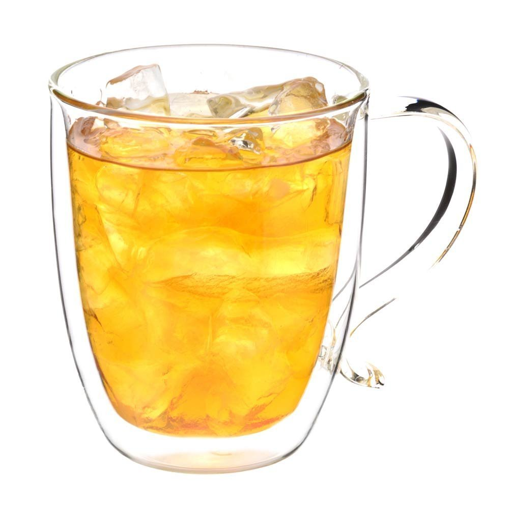 GROSCHE Cyprus 隔热双层壁玻璃杯 - 大容量500 ml,16 fl。 oz capacity 精美茶杯或咖啡杯