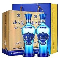 洋河 酒蓝色经典海之蓝52度375ml*2(送礼袋)(新老包装更替中,随机发货)(gift box)