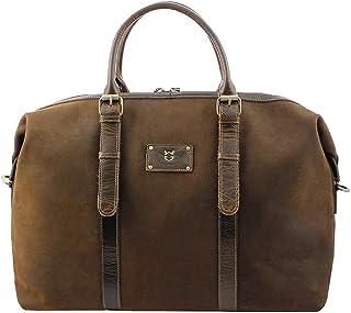 真皮旅行包 男士容量 周末旅行包 真皮 棕色 65*17*36 cm