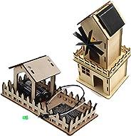 TWOBOYS 3D 拼图* DIY STEM 玩具木制激光切割套件 House&Raindrop Inductor