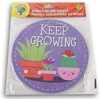 """教学树纸形装饰纸 - """"保持成长""""植物 - 36 张"""