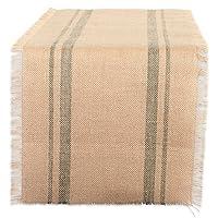 dii camz38407矿物双边框粗麻布桌巾,35.6?x 182.9?cm
