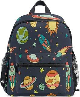 OREZI Space Exploration 宇航员儿童背包,幼儿书包,学前背包,适合小男孩女孩(行星) Universe One_Size